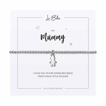 My Mummy / Boy - 17.5cm Sentiments Bracelet - Silver - Jewellery Gifts for Women from Lu Bella