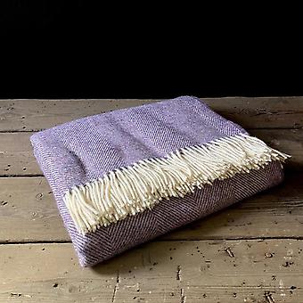 Wool throw  lavender