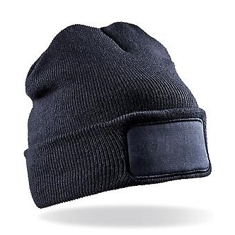 Result Genuine Recycled Unisex Adult Double Knit Beanie