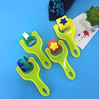 Creative Flower Star Sponge Roller, Paintbrush Diy Painting Tools, Kids,