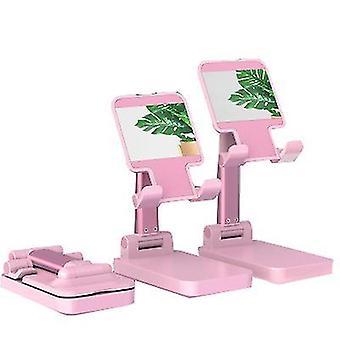 Ροζ πτυσσόμενο και ρυθμιζόμενος κάτοχος κινητού τηλεφώνου x2975