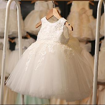 Soft Lace Ivory Tulle Pretty Flower Dresses