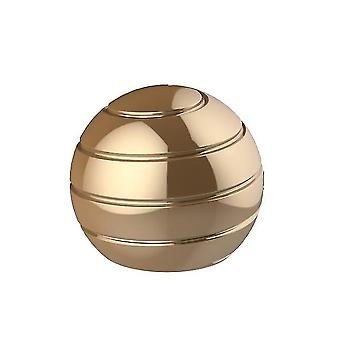 55Mm gold detachable rotating table top ball, fingertip spinning top decompression toy az4742