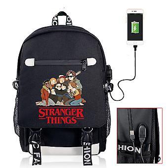 أشياء غريبة USB حقيبة ظهر قابلة لإعادة الشحن في الهواء الطلق السفر حقيبة طالب المدرسة