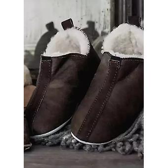 Shepherd Men's Suede Sole Sheepskin Bootee Slippers