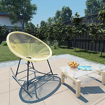 vidaXL puutarha kuu tuoli swing toiminto poly rottinki beige