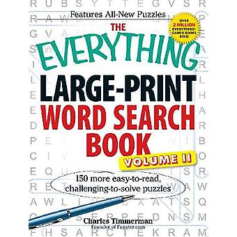 The Everything LargePrint Word Search Book Volume II by Timmerman & Charles