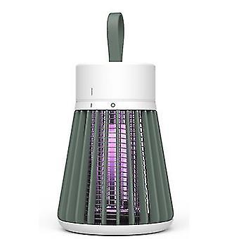 USB indoor mute mosquito repellent, electric shock type outdoor mosquito killer Lamp(Green)