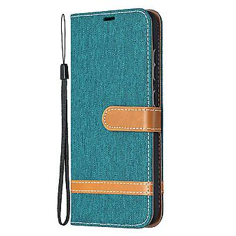Folio Flip Cover Leather Case For Samsung Galaxy A52 4g/5g Green Jeans