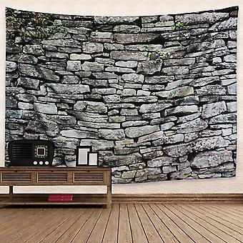 Vintage Grey Brick Wall Tapestry Wall Hanging Decor For Bedroom