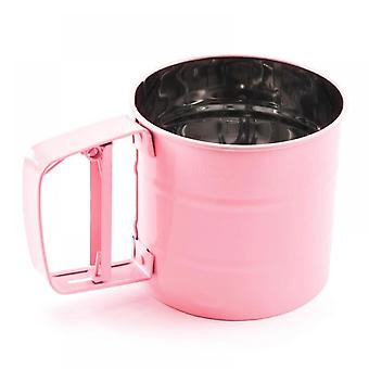 Pink Stainless Steel Coffee Sieve Cup - Pink