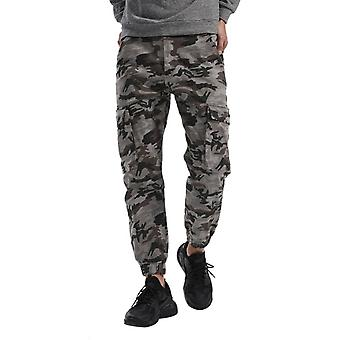 Yunyun Men's Military Relaxed-fit Camouflage Taper Cargo Combat Casual Pants