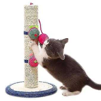 16'' Tall Cat Scratching Post, Claw Scratcher With Sisal Rope,pet Supplies