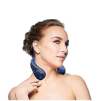 Hands Free Bladeless Neck Fan, 360° Cooling Hanging Fan, Usb Rechargeable Personal(Blue)