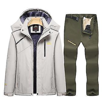 スノースキークロスセットウォーム防水防風フリースジャケット/パンツ