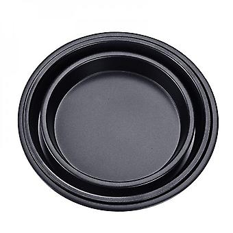 5 6 7 8 9 Inch Pizza Plate Round Deep Dish Pizza Pan Tray Carbon Steel Non-stick Pizza Stone Mold Baking Tool Baking Form For Pizza
