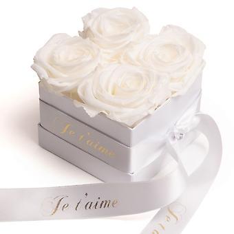 Roses Box Wei eviga rosor hållbara 3 år Wei Je t'aime Gåva
