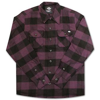Dickies Sacramento Long Sleeve Flannel Shirt Plum