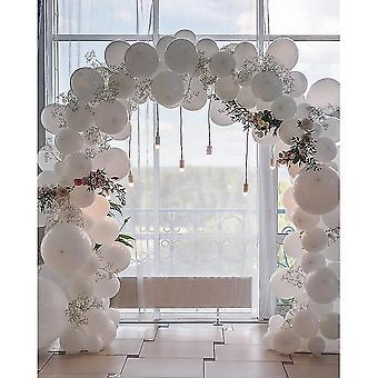 80pcs 12/5 Inch White Balloons Balloon Banner Set