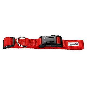 Pet leashes bold nylon collar red medium 20mm x 40-60cm