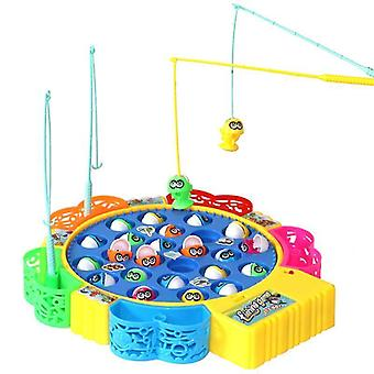 Fishing toys electric musical rotating fishing toy children board play fish game magnetic fish outdoor toys