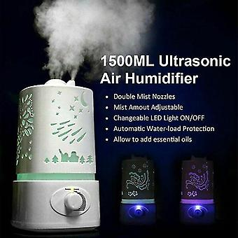Air fresheners 1.5L ultrasonic air humidifier diffuser purifier aroma room led change