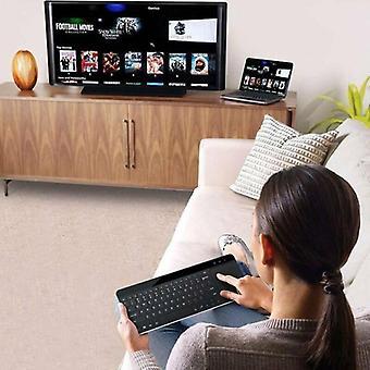 Drahtlose Touch-Tastaturen mit eingebauter großer Trackpad-Maus für Smart TV