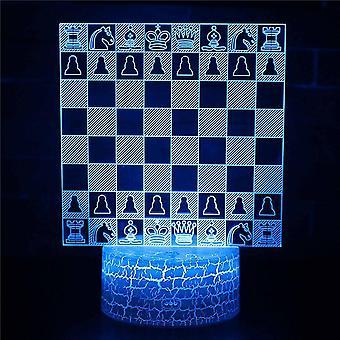 3D óptico lámpara de ilusión LED luz de noche, 7 colores touch lámpara de cabecera dormitorio mesa Art Deco niño