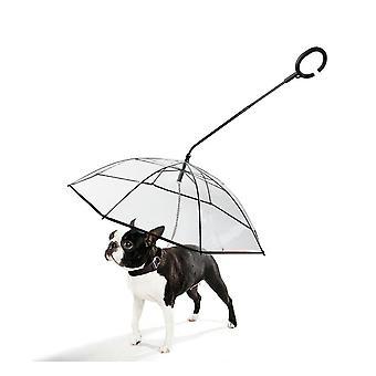 Transparent Pet Umbrella Chien en forme de C Parapluie Réglable Chien Walking Leash