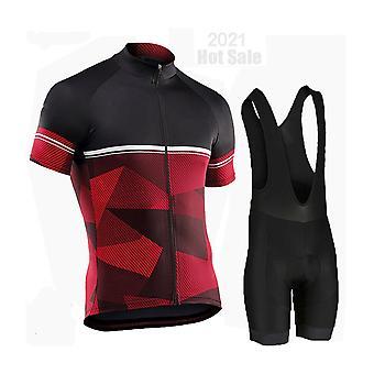Pns Men Pro Team Long Sleeve Cycling Jersey Set Bib Pants Ropa Ciclismo Bicycle Clothes Mtb Bike Jersey Uniform Men Clothes