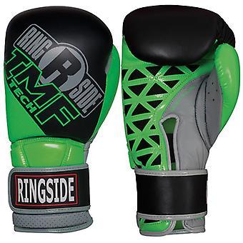 Ringside nuorten IMF Tech koukku ja silmukka sparraus nyrkkeilyhanskat - musta/Neon vihreä