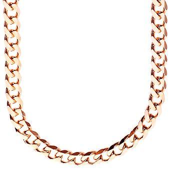 Da prata 925 esterlina calçada cadeia - freio 7, 4 mm rosa ouro