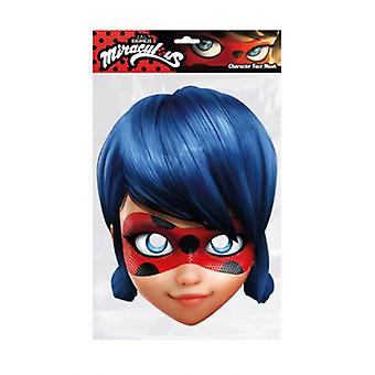 Ladybug from Miraculous Single 2D Card Party Fancy Dress Mask