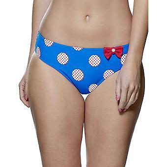 Audelle Minnie blau und weißer Flachbau Bikini kurze 150472