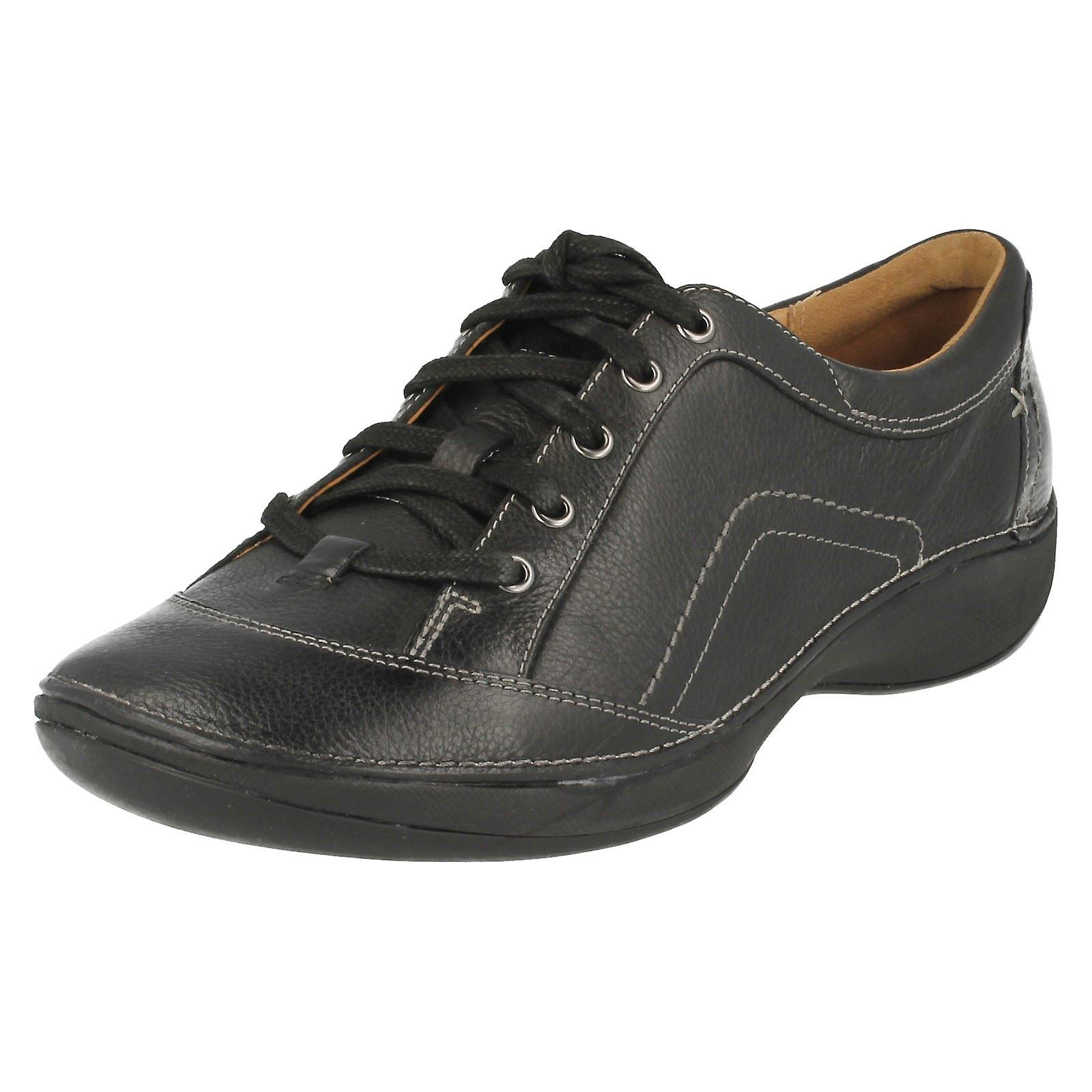Ladies Clarks Lace Up Flat Shoes Fairlie Spring y9SYl