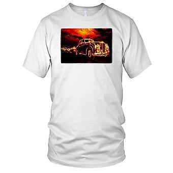 Klassisk bil flammen effekt Mens T-skjorte