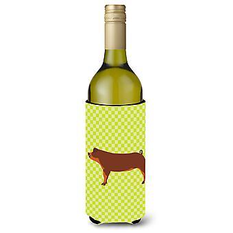 Duroc Pig Green Wine Bottle Beverge Insulator Hugger