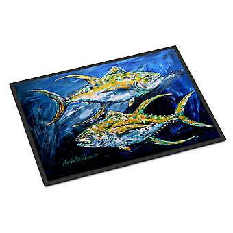 Carolines Treasures  MW1125MAT Fish - Tuna Tuna Blue Indoor or Outdoor Mat 18x27