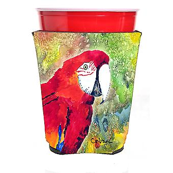 Carolines Treasures  8603RSC Parrot Head Red Solo Cup Hugger