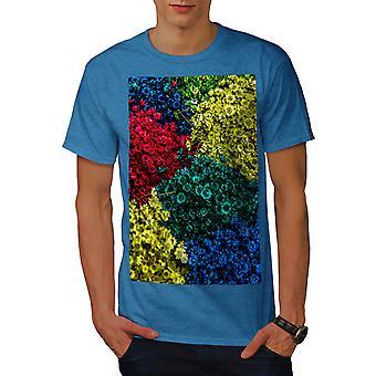 Spring Flowers Men Royal BlueT-shirt | Wellcoda