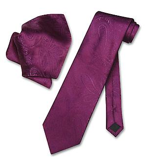 Vesuvio Napoli PAISLEY NeckTie & batistă potrivire cravată set