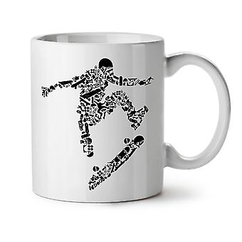 Skateboard Trick Sport NEW White Tea Coffee Ceramic Mug 11 oz | Wellcoda