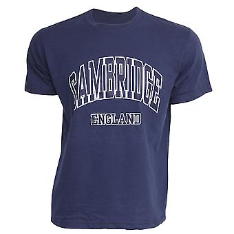 Mens Cambridge England Print 100% Cotton Short Sleeve Casual T-Shirt/Top