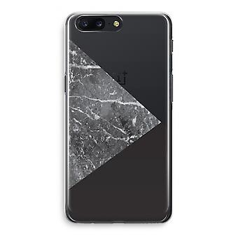 OnePlus 5 Transparant Case (Soft) - Marble combination