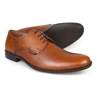 Red Tape Albert Mens Tan Brown Leather Formal Gibsons