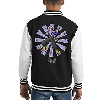 Trunks Retro Japanese Dragon Ball Z Kid's Varsity Jacket