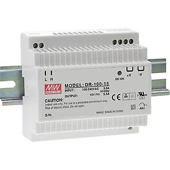 Mean Well DR-100-24 Rail montado PSU (DIN) 24 V DC 4,2 A 100 W 1 x