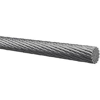 Kabeltronik 401007501-1 Strand 1 x 0,75 mm² Zilver verkocht per meter