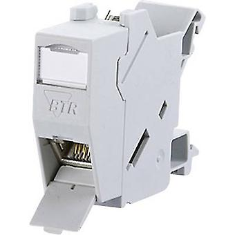 Metz Connect 1309426003-E Network outlet DIN rail CAT 6 Grey-white (RAL 7035)