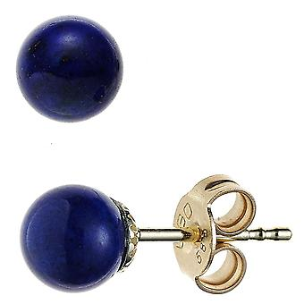 Gemstone Stud Earrings 585 Gold Yellow Gold 2 lapis lazuli earrings gold lapis lazuli earrings